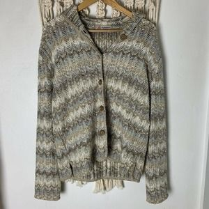 Geona Knit Cardigan SM/Med Hooded Textured